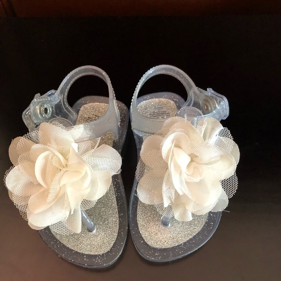 Shoes | Baby Girl Silver Sandals With